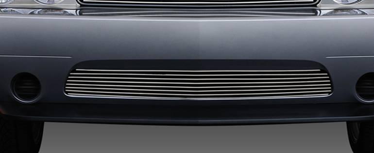 T-REX Grilles - 2011-2014 Challenger Billet Bumper Grille, Polished, 1 Pc, Overlay - PN #25416