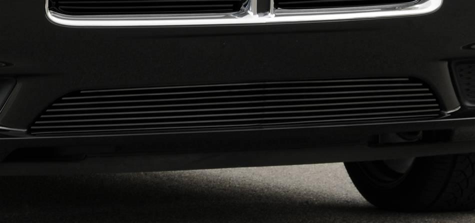 T-REX Grilles - Dodge Charger Bumper Billet Grille - All Black - Pt # 25442B