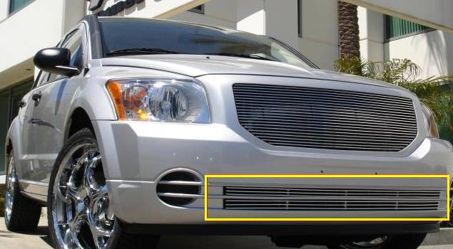 T-REX Dodge Caliber Except SRT Bumper Billet Grille Insert - 2 Pc Except SRT Models - Pt # 25477