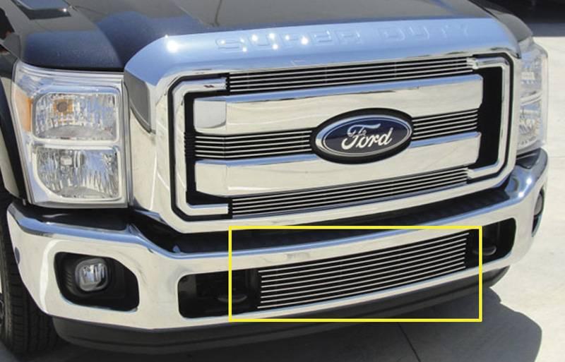 T-REX Ford Super Duty Bumper Billet Grille Insert - Between Tow Hooks - Pt # 25546