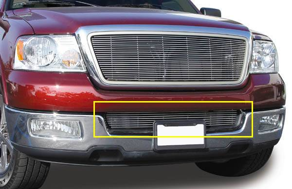 Ford F150 All Models  Bumper Billet Grille Insert 10 Bars - Pt # 25552