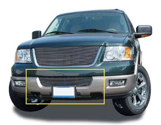 T-REX Grilles - Ford Expedition 03 All & 04-06 XLT Bumper Billet Grille Insert - 03 All, 04-06 XLT Models 10 Bars - Pt # 25592