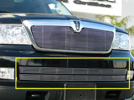 T-REX Lincoln Navigator Bumper Billet Grille Insert - 2 Pc 4 Bars Each - Pt # 25699