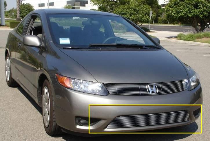 Honda Civic Coupe Bumper Billet Grille Insert 11 Bars - Pt # 25736