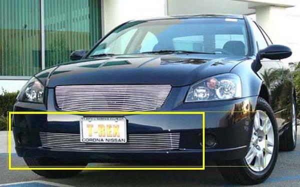 T-REX Nissan Altima Bumper Billet Grille Insert 9 Bars - Pt # 25741