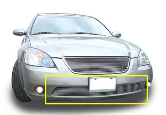 T-REX Grilles - Nissan Altima Bumper Billet Grille Insert 9 Bars - Pt # 25742