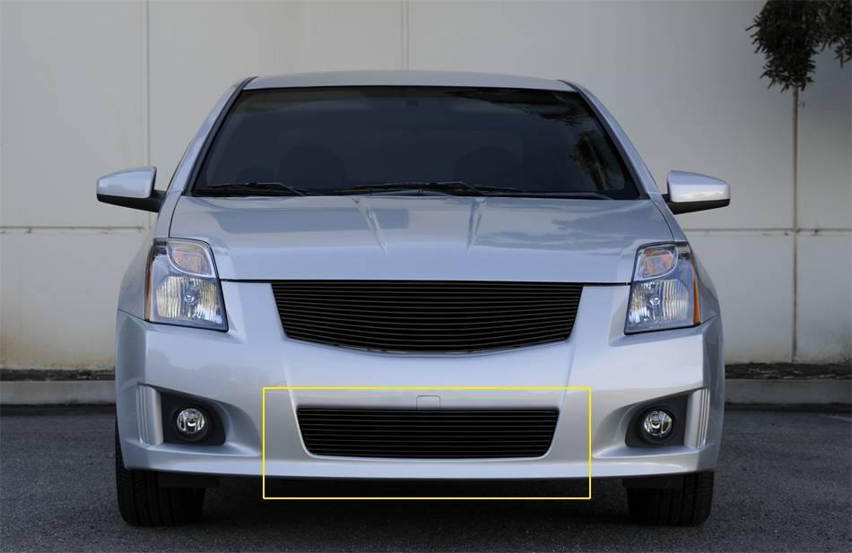 Nissan Sentra 2.0 SR, SE-R Bumper Billet Grille Insert - All Black - Pt # 25764B