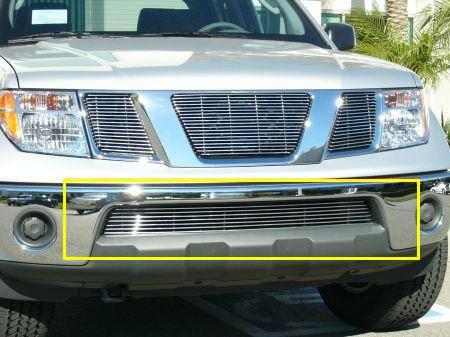 Nissan frontier bumper billet grille frontier w chrome bumpers 9 nissan frontier bumper billet grille frontier w chrome bumpers 9 bars pt 25789 aloadofball Images