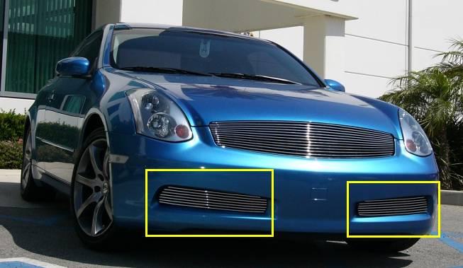 T-REX Grilles - Infiniti G-35 Coupe Bumper Billet Grille Insert  - 2 Pc Except road sensing cruise - Pt # 25797