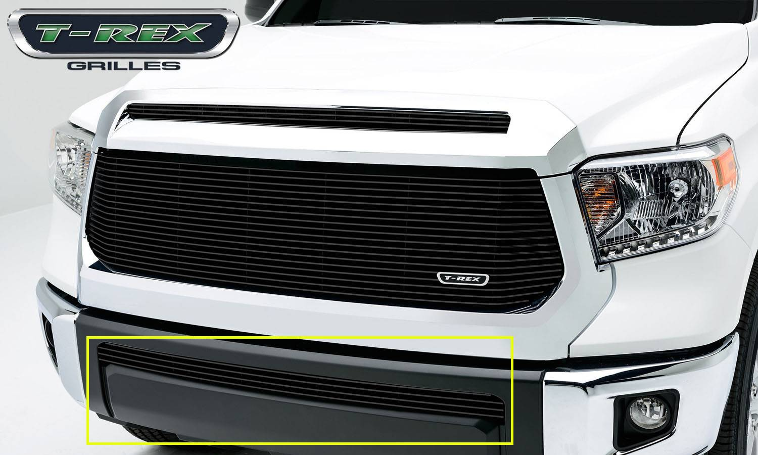 T-REX Toyota Tundra  Billet Grille, Bumper, Overlay, 1 Pc, Black Powdercoated Aluminum Bars - Pt # 25964B