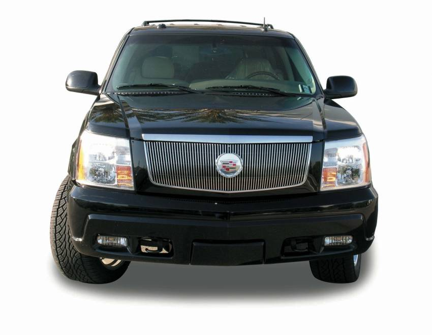 T-REX Grilles - 2002-2006 Escalade Vertical Billet, Polished, 1 Pc, Insert, with Center Logo Plate - PN #30184