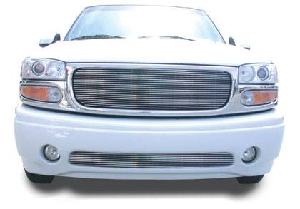 T-REX GMC Yukon Denali, 02-05 Sierra C3 VERTICAL Bumper Insert - Denali - Tow Hooks Must be Removed 75 Bars - Pt # 35179