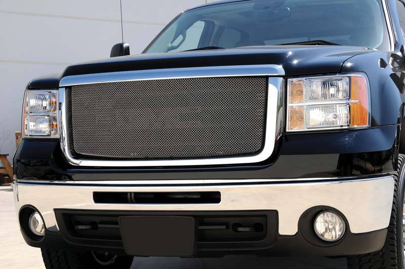 T-REX Grilles - GMC Sierra HD Sport Series Formed Mesh Grille - Stainless Steel - Triple Chrome Plated - Pt # 44206