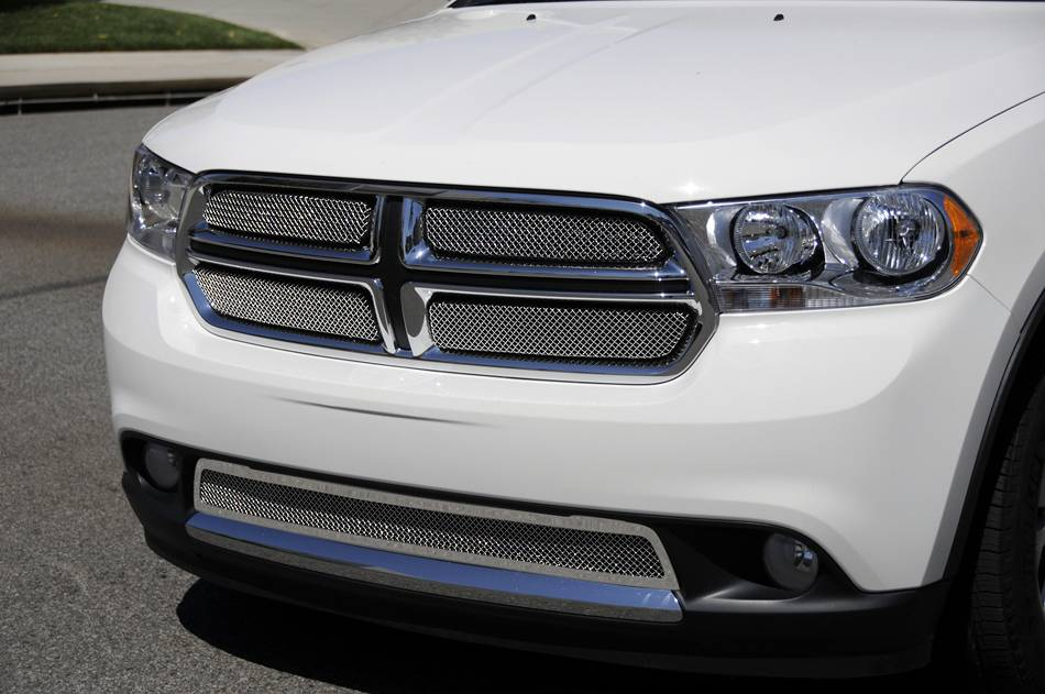 T-REX Grilles - Dodge Durango Sport Series Formed Mesh Grille - Stainless Steel - Triple Chrome Plated - 4 Pc - Pt # 44491