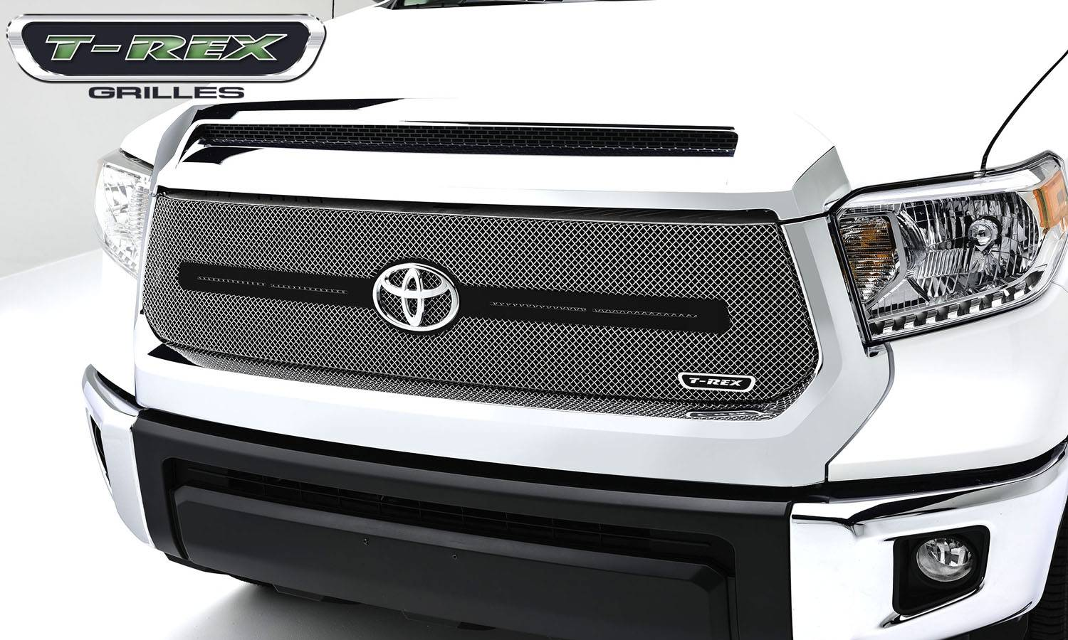 T-REX Toyota Tundra  Sport Series, Formed Mesh, Main Grille With Logo Bar, Replacement, 1 Pc, Triple Chrome Plated Stainless Steel - Pt # 44964
