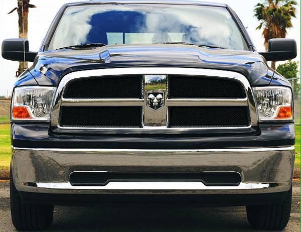 Dodge Ram PU 1500 Sport Series Formed Mesh Grille - ALL Black Powdercoat - 4 Pc - Pt # 46456