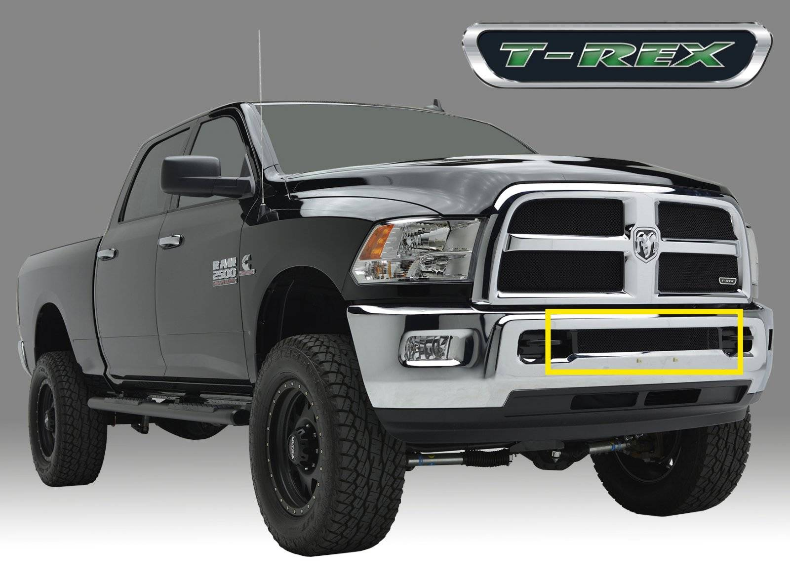 T-REX Dodge Ram PU 2500 / 3500 Sport Series, Mesh Grille, Bumper, Insert, 1 Pc, Black Powdercoated Mild Steel - Pt # 47452