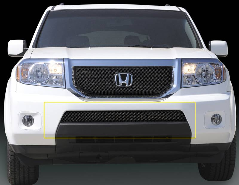 T-REX Grilles - 2009-2010 Honda Pilot Sport Bumper Grille, Black, 1 Pc, Overlay - PN #47705