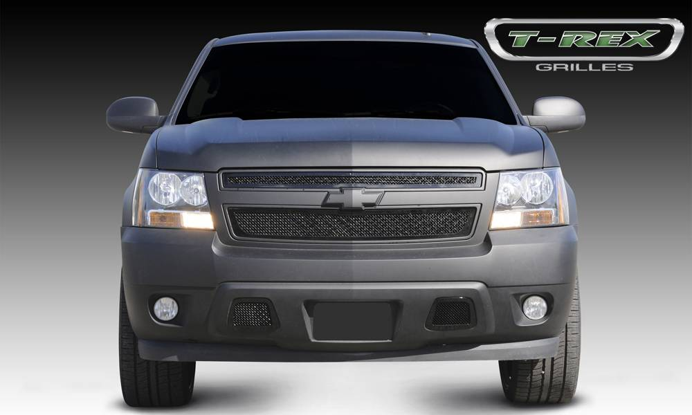T-REX Grilles - 2007-2013 Avalanche, 07-14 Sub/Tahoe Upper Class Grille, Black, 2 Pc, Overlay - PN #51051