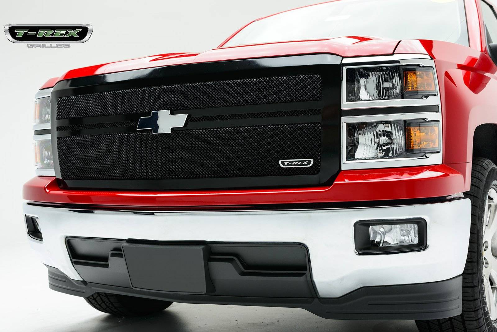 T-REX Grilles - 2014-2015 Silverado 1500 Upper Class Grille, Black, 1 Pc, Replacement, 2 Bar Design - PN #51118