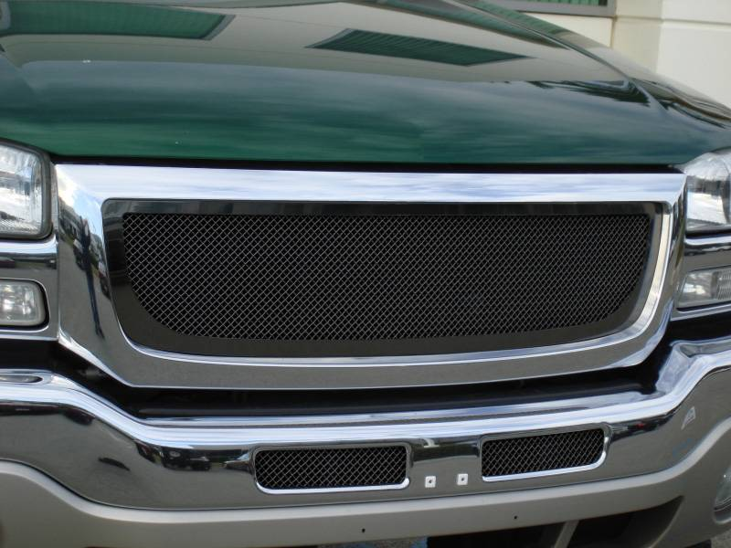 T-REX Grilles - GMC Sierra Upper Class Mesh Grille - All Black - Pt # 51200