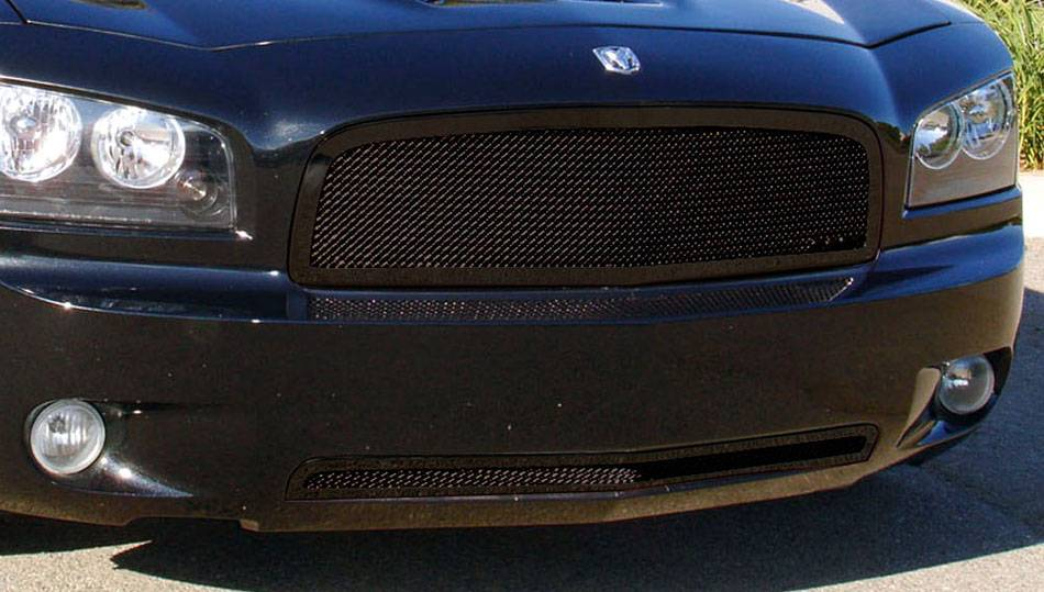 T-REX Dodge Charger Upper Class Mesh Grille - All Black - Pt # 51474