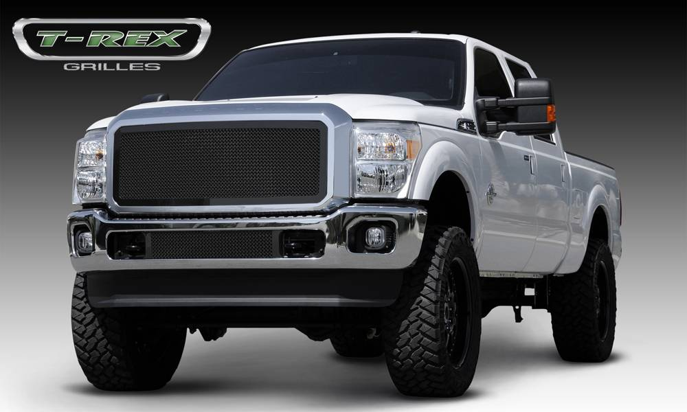 T-REX Grilles - 2011-2016 Super Duty Upper Class Grille, Black, 1 Pc, Insert - PN #51546