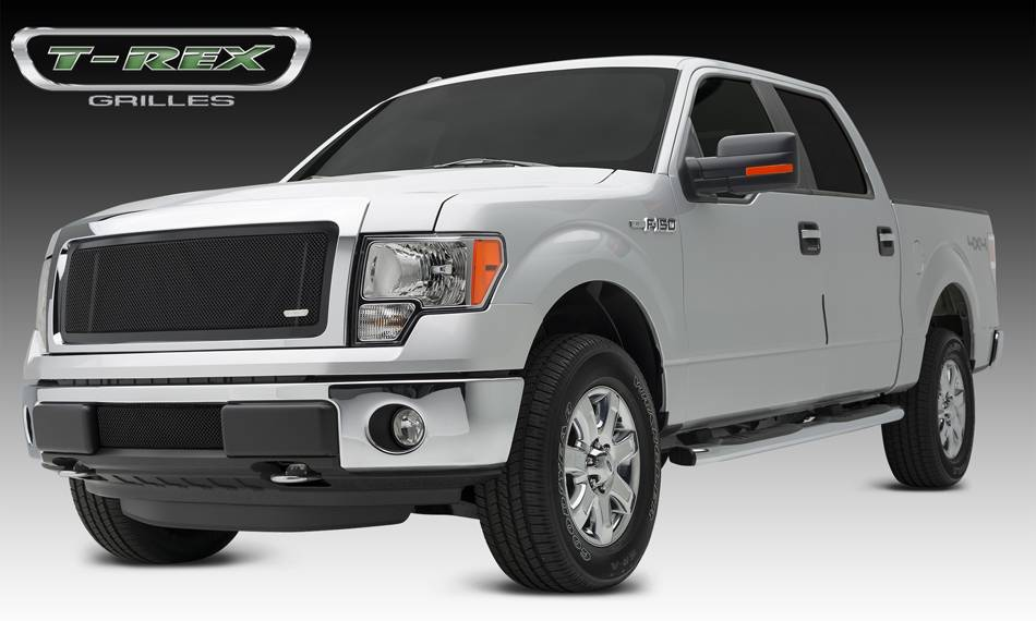 T-REX Ford F-150 Upper Class, Formed Mesh Grille, Main, Insert, 1 Pc, All Black Steel - Pt # 51572