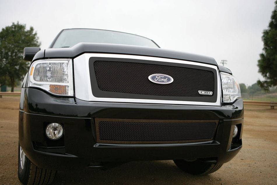 T-REX Ford Expedition Upper Class Mesh Grille - All Black - Pt # 51594