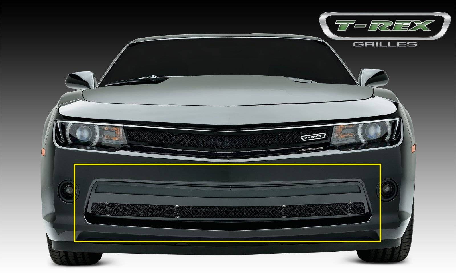 Chevrolet Camaro RS Upper Class, Formed Mesh, Bumper Grille, Overlay, 1 Pc, Black Powdercoated Mild Steel - Pt # 52031