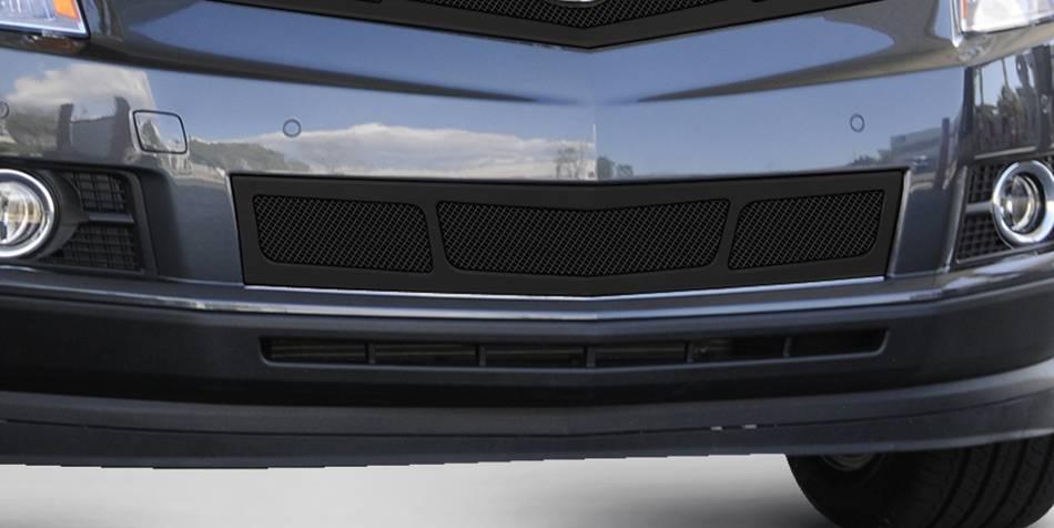 T-REX Cadillac SRX Upper Class Mesh Bumper Grille, Overlay, 3 Window Design, Black - Pt # 52187