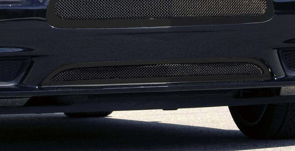 T-REX Grilles - Dodge Charger Upper Class Mesh Bumper Grille - All Black - With Formed Mesh - Pt # 52442