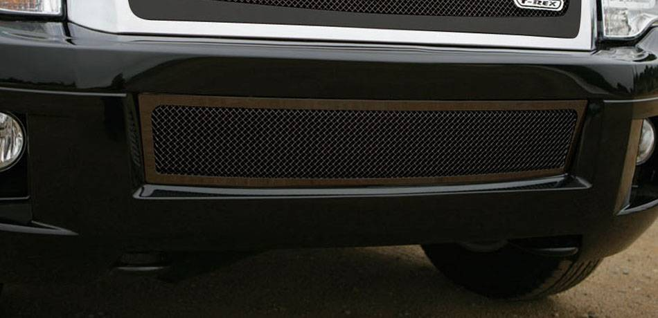T-REX Grilles - Ford Expedition Upper Class Bumper Mesh Grille - All Black - Pt # 52594