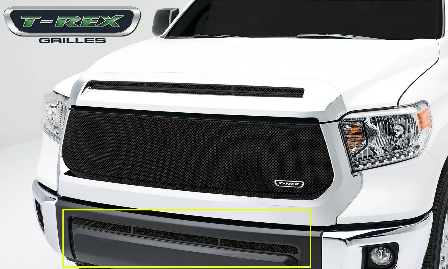 T-REX Toyota Tundra  Upper Class, Formed Mesh, Bumper Grille, Overlay, 1 Pc, Black Powdercoated Mild Steel - Pt # 52964