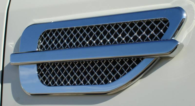 "T-REX Grilles - ALL Most Vehicles Side Vents - Billet Chrome Plated - Escalade Style - 10.5""x4"" - Pt # 54001"