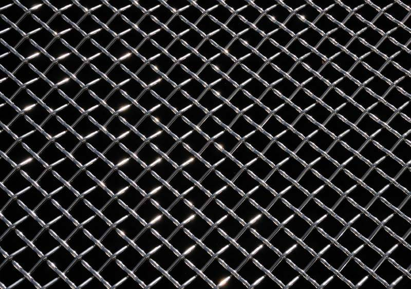 "T-REX Grilles - ALL Most Vehicles Stainless Steel Wire Mesh Flat - Polished - 12""x40""  - Mesh Size = 3 Squares per Inch - Pt # 54009"