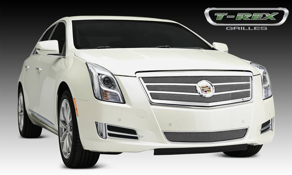 T-REX Grilles - 2013-2014 Cadillac XTS Upper Class Grille, Polished, 1 Pc, Replacement - PN #54174