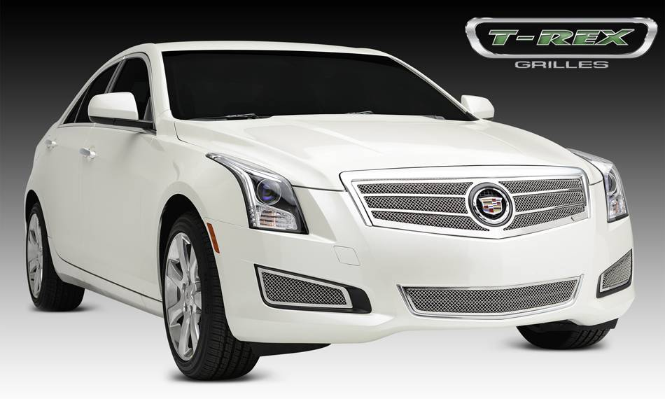 Cadillac ATS Upper Class Formed Mesh Grille, Main, Overlay, 1 Pc, Polished Stainless Steel Will not fit Platinum Edition. - Pt # 54177