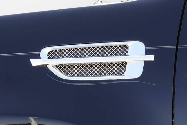 T-REX Grilles - 2007-2014 Escalade Upper Class Side vent, Polished, 2 Pc, Insert - PN #54199