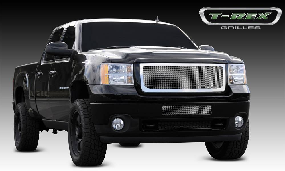 T-REX Grilles - 2011-2014 Sierra HD Upper Class Grille, Polished, 1 Pc, Insert - PN #54209