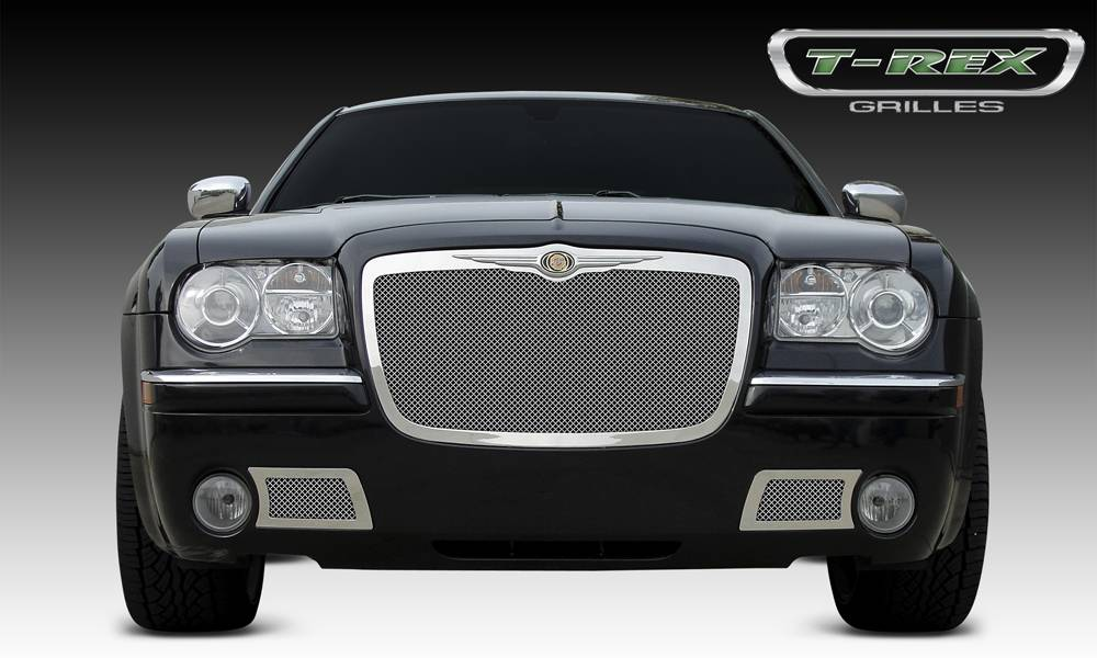 T-REX Grilles - 2005-2010 Chrysler 300, 300C, SRT Upper Class Grille, Polished, 1 Pc, Replacement - PN #54471