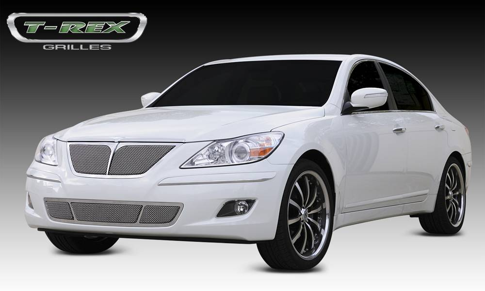 T-REX Hyundai Genesis Sedan Upper Class Polished Stainless Mesh Grille - With Formed Mesh Center - Pt # 54494