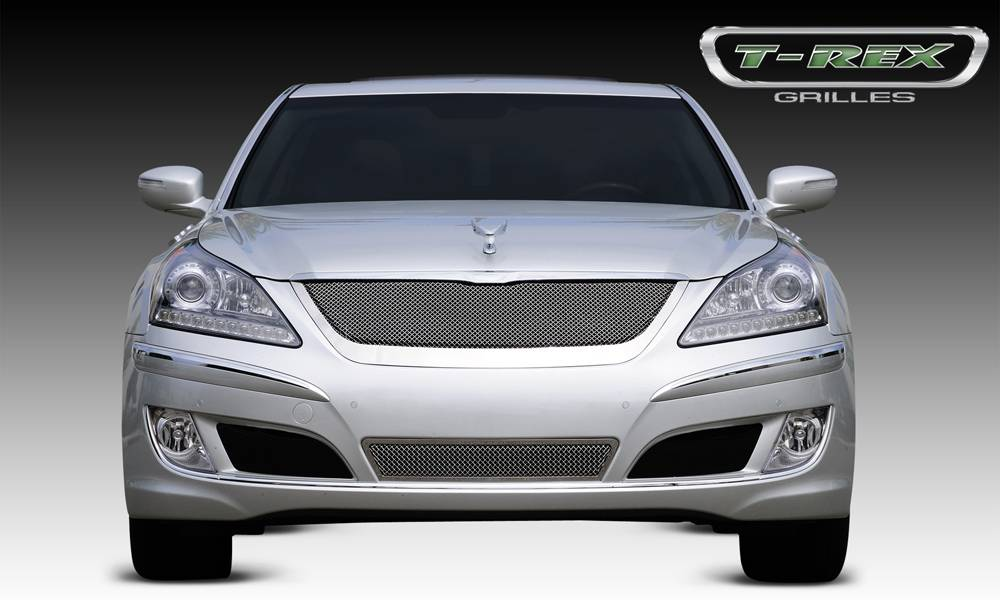 T-REX Hyundai Equus Signature Upper Class Polished Stainless Mesh Grille - With Formed Mesh Center - Pt # 54496