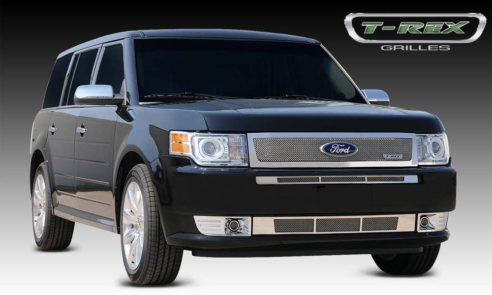 T-REX Grilles - 2009-2012 Ford Flex Upper Class Grille, Polished, 1 Pc, Replacement - PN #54523