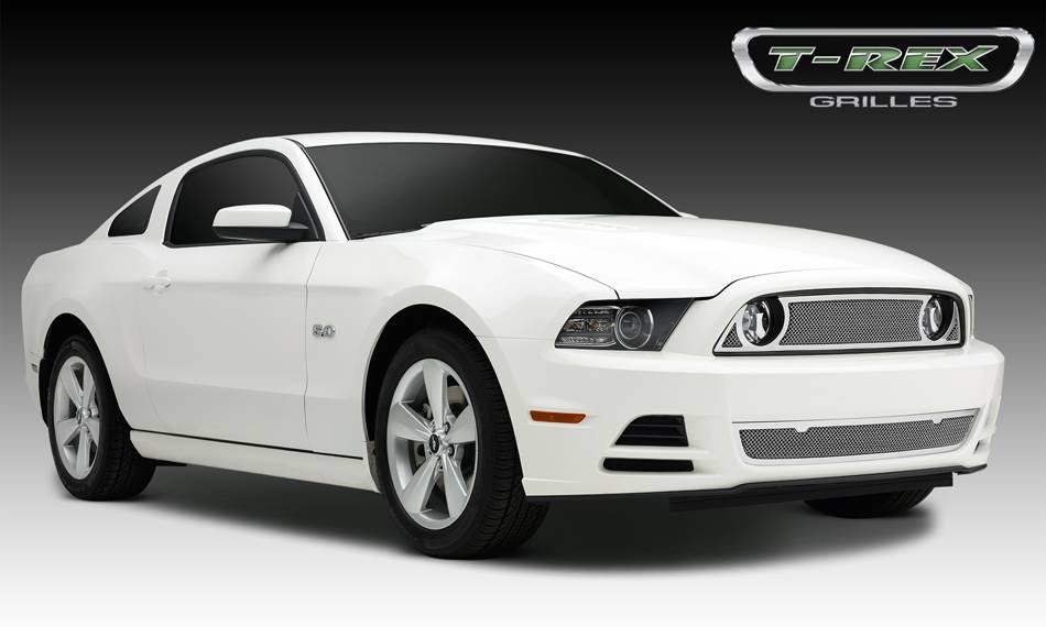 T-REX Grilles - 2013-2014 Mustang GT Upper Class Grille, Polished, 1 Pc, Overlay - PN #54525