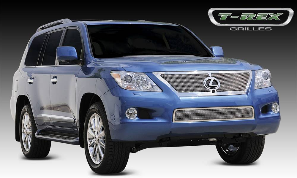 T-REX Lexus LX 570 Upper Class Mesh Grille - With Formed Mesh Center Grille has Logo Opening for OE Sensor - Pt # 54641