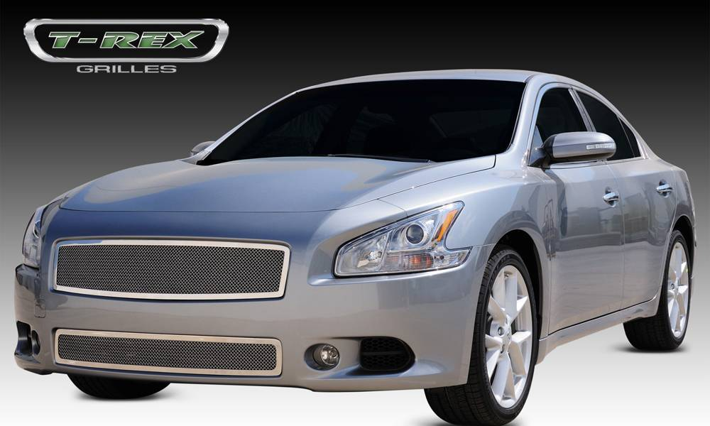 T-REX Nissan Maxima Upper Class Polished Stainless Mesh Grille - Pt # 54758