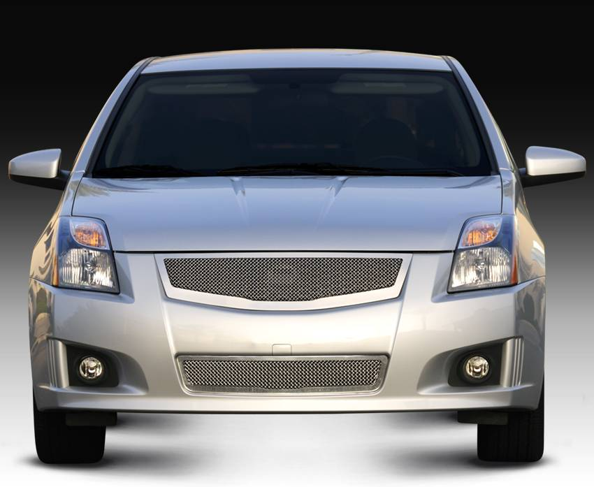 Nissan Sentra 2.0 SR, SE-R Upper Class Mesh Grille fits vehicles w/ Sport Grille and Sport fascia - Pt # 54764