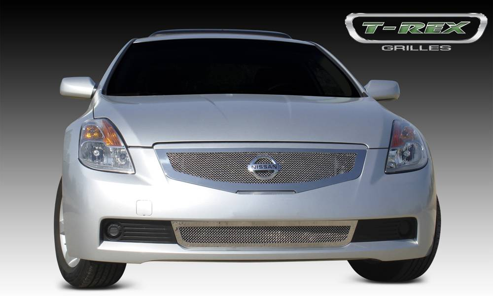 T-REX Grilles - 2008-2009 Altima Coupe Upper Class Grille, Polished, 1 Pc, Replacement - PN #54769