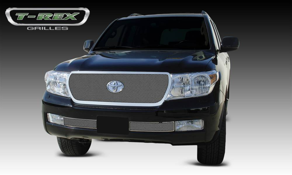 T-REX Toyota Landcruiser - Upper Class Replacement - Polished Stainless Mesh Grille - Pt # 54934